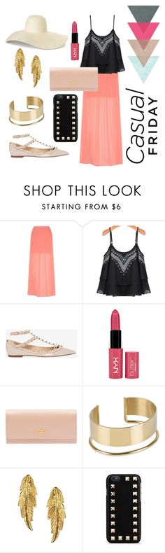 """Outfit #5"" by screepted ❤ liked on Polyvore featuring Yumi, Valentino, NYX, Prada, By Malene Birger and LeiVanKash"