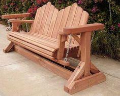 garden glider plans | Redwood Glider Swing Bench