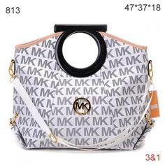 Michael Kors Skorpios,Michael Kors Monogrammed Ring Handbag White Grey Sale-148
