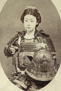 Collection of Samurai and Kabuki performers photos.