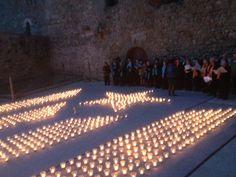 Estelada amb Espelmes - Encén la Flama Sant Pere de Rodes #estelada #catalunya #santperederodes 26 de maig del 2013