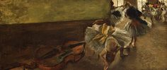 Edgar Degas (French, 1834–1917). Dancers in the Rehearsal Room with a Double Bass, ca. 1882-85. The Metropolitan Museum of Art, New York.