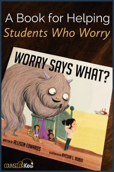 If you're looking for a book about worry to help your students, you'll love Worry Says What and this free printable activity! Do you have students who struggle with worries or anxiety? This book address school anxiety, social anxiety, and everyday fears t Elementary School Counseling, School Social Work, School Counselor, Kindergarten Graduation, Primary School, Social Emotional Learning, Social Anxiety, Social Skills, Activities For Kids