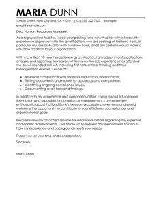 26 finance cover letter