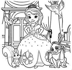 Dibujos De La Princesa Sofia Para Colorear Dibujos Disney Para