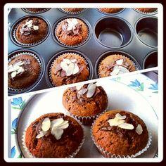 Meine selbstgemachte Schokoladen-Bananen-Muffins wurden von meinen Flurmitbewohnern leergegessen! Hahaha