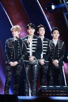 Baekhyun, Kai, Sehun e Chen EXO ♡ °з°  ⭐️