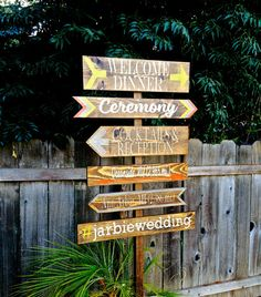 Wedding Directional Signs Rustic Wedding  Decor by OneCoopedChick, $30.00