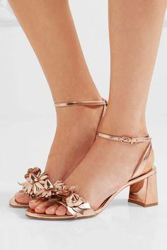 Sophia Webster - Lilico Appliquéd Metallic Leather Sandals - Gold - IT38
