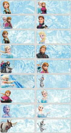 60 disney frozen personalized name labels