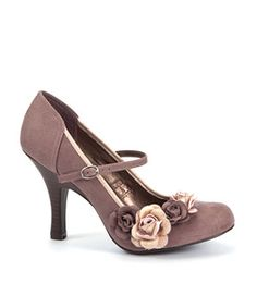 Tan (Stone ) Ruby Shoo Stone Corsage Heeled Shoes | 247422318 | New Look