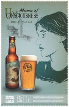 Aleing Authors Beer Posters on Behance