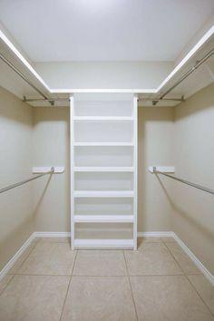 closet ideas for small walk in closets   Small Walk-in ...