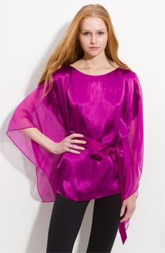 Elie Tahari 'Amy' Kimono Sleeve Silk Top   Nordstrom - StyleSays