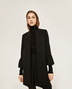 ZARA - COLLECTION SS/17 - FRILLED SLEEVE COAT