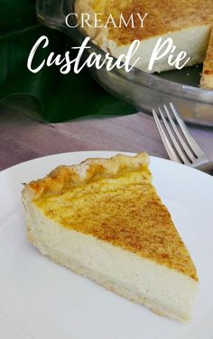 Custard Pie - My Favorite Custard pie recipe. A delicious creamy and cool pie made with eggs and evaporated milk. Creamy custard pie made with eggs and evaporated milk. Custard Recipes, Pie Recipes, Custard Pies, Egg Custard Pie Recipe Easy, Hawaiian Custard Pie Recipe, Butter Milk Pie Recipe, Strawberry Custard Pie Recipe, Hawaiian Dessert Recipes, Custard Desserts