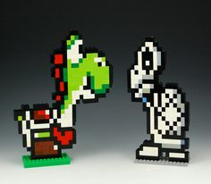 Lego Yoshi and Dry Bones by BrickBum