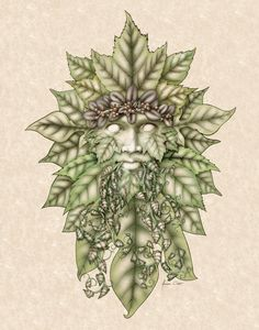 This is a Green-Man that I did WITH a knot-work border, but I removed it for this version. Green-Man without border Green Man Tattoo, Pan Mythology, Sculpture Head, Without Borders, Forest Creatures, Old Images, Pin Up Art, Leprechaun, Tattoo Sketches