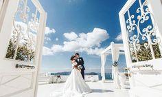 The Doors of Hapiness are always open at Dana Villas Wedding Venue!  #santoriniweddings #exclusiveweddings