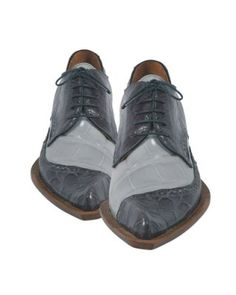 Men's Mauri Diamond Grey Genuine Baby Alligator Leather Dress Shoes   Megasuits.com