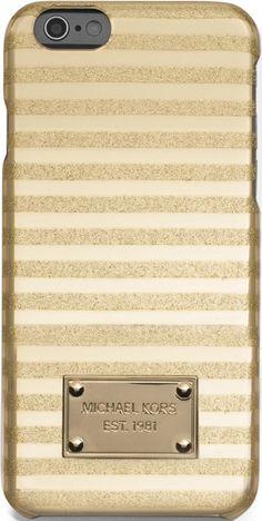 •Website: http://www.cuteandstylishbags.com/portfolio/michael-michael-kors-gold-candy-stripe-iphone-6-case/ •Item: MICHAEL Michael Kors Gold Candy Stripe iPhone 6 Case