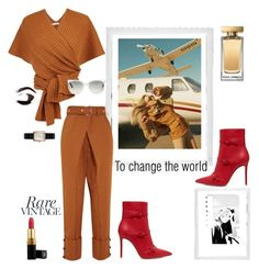 """Vintage aviator"" by frida-marie-ording ❤ liked on Polyvore featuring Gianvito Rossi, Polaroid, Proenza Schouler, TIBI, By Charlotte, Ray-Ban, Dolce&Gabbana, Chanel and vintage"