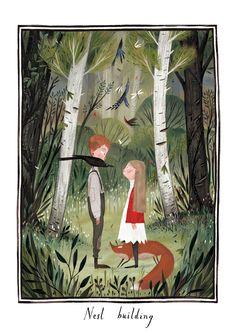 Scenes from The Secret Garden by Júlia Sardà on Tumblr