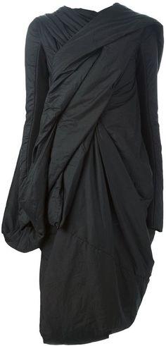 Rick Owens draped coat