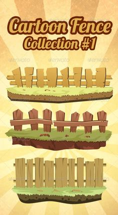 VECTOR DOWNLOAD (.ai, .psd) :: https://realistic.photos/article-itmid-1007622205i.html ... cartoon fence collection #1 ...  brown, cartoon, collection, farm, fence, grass, pack, stone, wood  ... Vectors Graphics Design Illustration Isolated Vector Templat