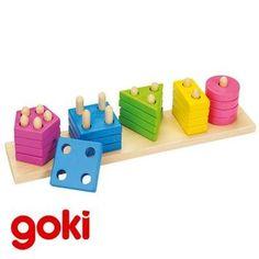 Hindou Jeu de patience jeu de billes Casse-t/ête Jouet en bois Enfant 5 ans Goki