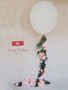 Hoy en el blog, un tutorial para decorar globos que empieza a oler a primavera... http://www.unabodaoriginal.es/blog/donde-como-y-cuando/decoracion/diy-globos-con-flores