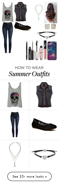 """Sem título #440"" by tabatha-oliveirasykes on Polyvore featuring Lucky Brand, NARS Cosmetics, Rimmel, MAC Cosmetics, Bobbi Brown Cosmetics, Kate Spade, FOSSIL, women's clothing, women's fashion and women"