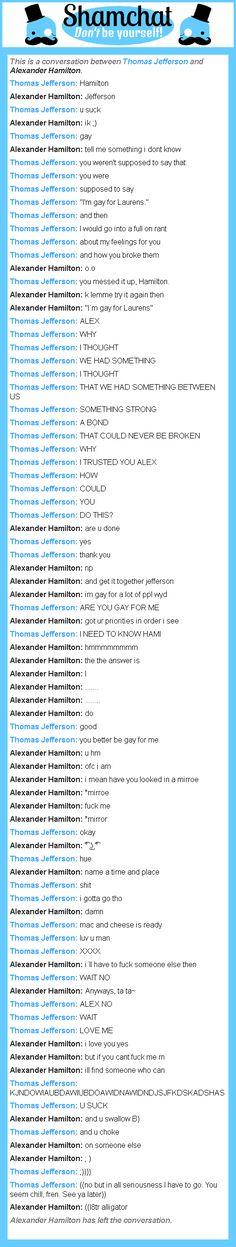 A conversation between Alexander Hamilton and Thomas Jefferson