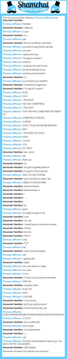 A conversation between Alexander Hamilton and Thomas Jefferson