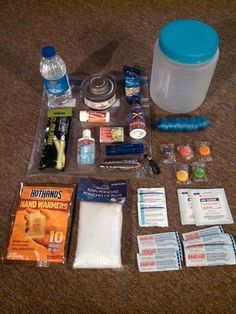 Survival Tips For BackpackersWhy survival tips for backpackers? Certainly backpacking may never become a matter of wilderness survival for you, especially if you are careful in your planning. 72 Hour Emergency Kit, Emergency Preparedness Kit, Emergency Preparation, Emergency Supplies, Emergency Food, In Case Of Emergency, Survival Prepping, Survival Gear, Survival Skills