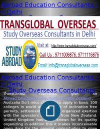 Abroad Education Consultants in Delhi, Study Overseas