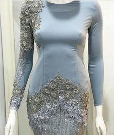 baju tunang baby blue Dress Brokat, Kebaya Dress, Lace Dress, Dress Up, Muslim Dress, Beautiful Gowns, Traditional Outfits, Skirt Fashion, Pretty Dresses