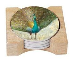 allthingspeacock.com - Peacock Coasters & Tiles