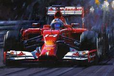 Alonso's Turbo | themotorsportgallery Automotive Art, First Art, Giclee Print, Gallery, Artist, Prints, Roof Rack, Artists