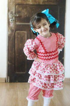 Vestido de festa junina fácil ::: Com molde