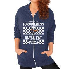 Apparels ninjapizza Zip Hoodie (on woman)