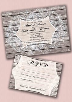 New to CupidDesigns on Etsy: Rustic Wedding invitation suite/rustic wedding invitation with rsvp/Barn wedding invitation/Rustic chic wedding invitations/Rustic wood (4.75 USD)