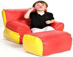 Foamnasium Soft-E-Boy Chair and Ottoman - SensoryEdge