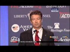 ▶ Sen. Rand Paul: 'Worldwide War on Christianity' Ignored by Obama, Media - YouTube