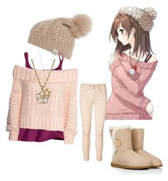"""""""Anime inspired outfit"""" by bonjour-its-ally ❤ liked on Polyvore featuring UGG Australia, H&M, 1928, Vero Moda and anime"""