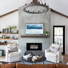 Fireplace Makeover Ideas To Get You Ready For Fall - BANDD DESIGN