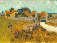 Vincent Van Gogh - Farmhouse in Provence, 1888. Oil on canvas, National Gallery of Art, Washington, D.C., USA
