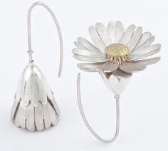 Open/Close Daisy Locket Earrings by Victoria Walker