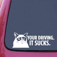 Grumpy Cat Vinyl Car Decal by Geekals, $5.99