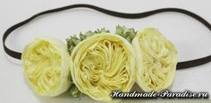 Английская роза Дэвида Остина из ткани. Хочу вам предложить создать английскую розу для украшения и декорирования ободка для волос маленькой принцессы